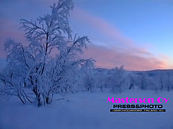 Northern arctic very cold nature
