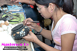 Pottery painting in Northern Thailand