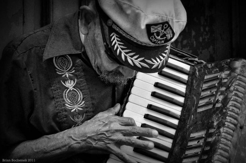 Street musician in Old San Juan Puerto Rico