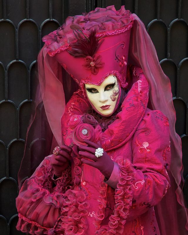 "Winner May  Travel  Theme: ""Carnival""   ""Venice Carnevale: eye contact""  D90 | Nikkor 16-85VR | ISO1600 | f/10 | 1/50 sec"