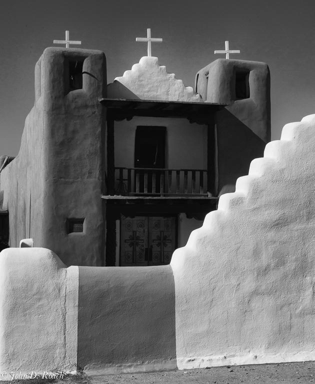 San_Geronimo_Tao_Pueblo_B_W