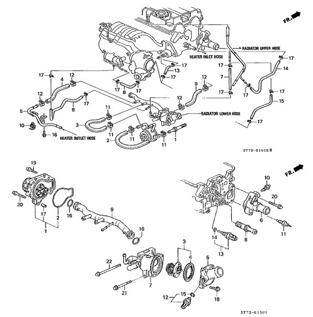 1996 acura integra cooling system diagram